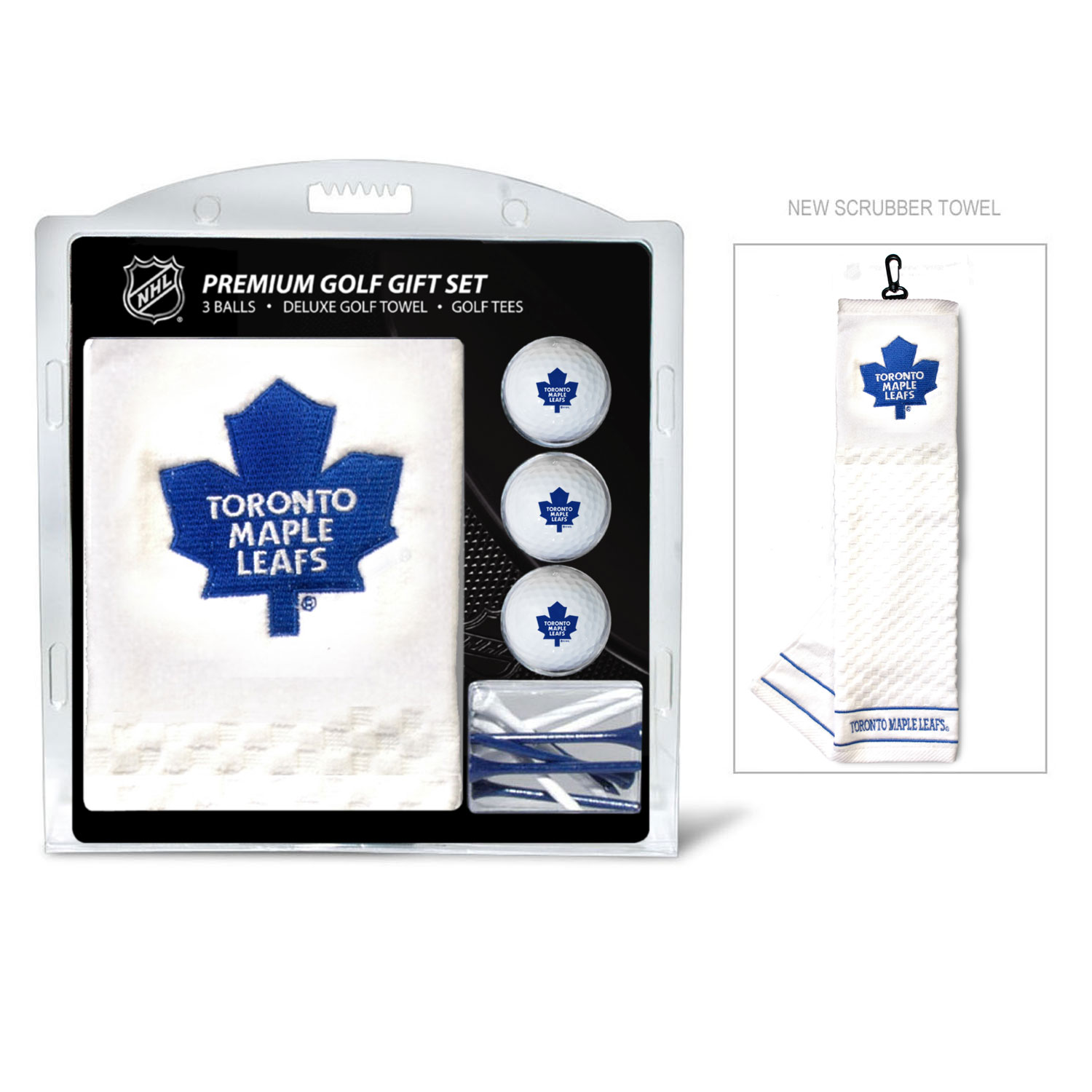 Toronto maple leafs embroidered golf gift set