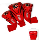 Calgary Flames Golf Headcovers Set of Three