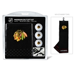 Chicago Blackhawks Embroidered Towel Golf Gift Set