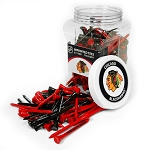Chicago Blackhawks NHL Golf Tees 175 Pack