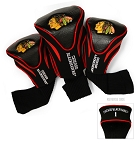 Chicago Blackhawks Golf Headcovers Set of Three