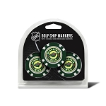 Minnesota Wild Set of 3 Poker Chips