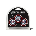 Montreal Canadiens Set of 3  Golf Poker Chips w/ Ballmark