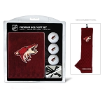 Arizona Coyotes Embroidered Towel Golf Gift Set