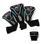San Jose Sharks Golf Headcovers Set of Three