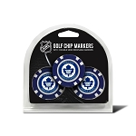 Toronto Maple Leafs Set of 3 Poker Chips
