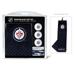 Winnipeg Jets Embroidered Towel Golf Gift Set