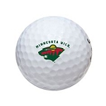 Minnesota Wild Single Logo Golf Ball