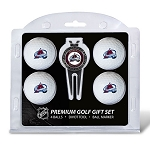 Colorado Avalanche 4 Ball Divot Tool Golf Gift Set