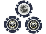 Buffalo Sabres Set of 3 Poker Chips