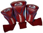Colorado Avalanche Set of 3 Contour Golf Club Head Covers