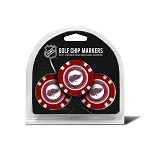 Detroit Red Wings Set of 3 Poker Chips