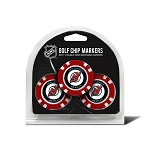New Jersey Devils Set of 3 Poker Chips