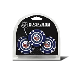 New York Islanders Set of 3 Poker Chips