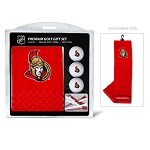 Ottawa Senators Embroidered Towel Golf Gift Set