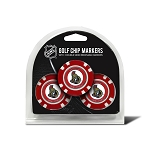 Ottawa Senators Set of 3 Poker Chips