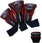 Columbus Blue Jackets Golf Headcovers Set of Three
