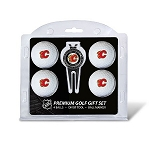Calgary Flames 4 Ball Divot Tool Golf Gift Set