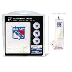New York Rangers Embroidered Towel Golf Gift Set