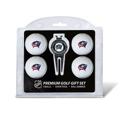 Columbus Blue Jackets 4 Ball Divot Tool Golf Gift Set